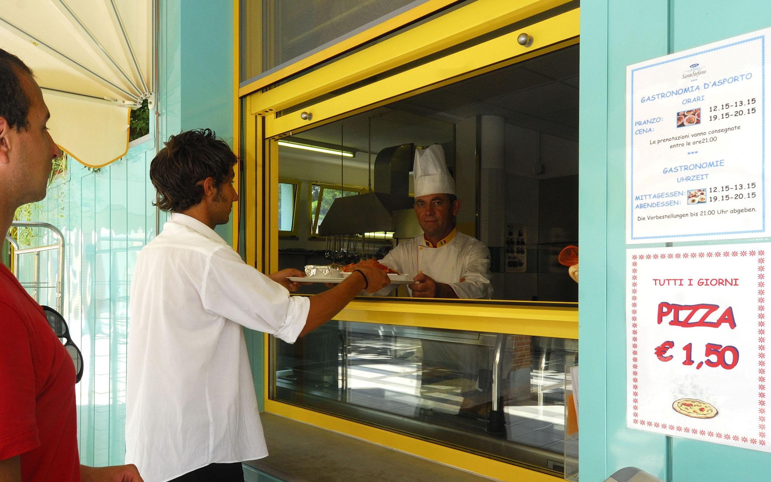 Bar: servizio gastronomia d'asporto